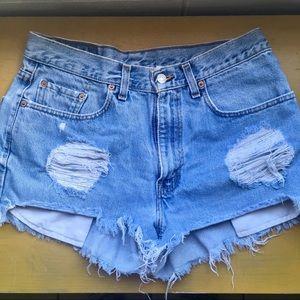 Levi's vintage 550 cut offs shorts